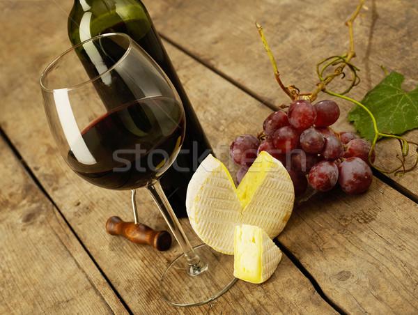 Vinho tinto degustação queijo madeira vinho tabela Foto stock © goir
