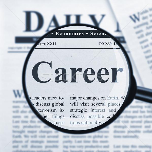 Stock photo: Career headline