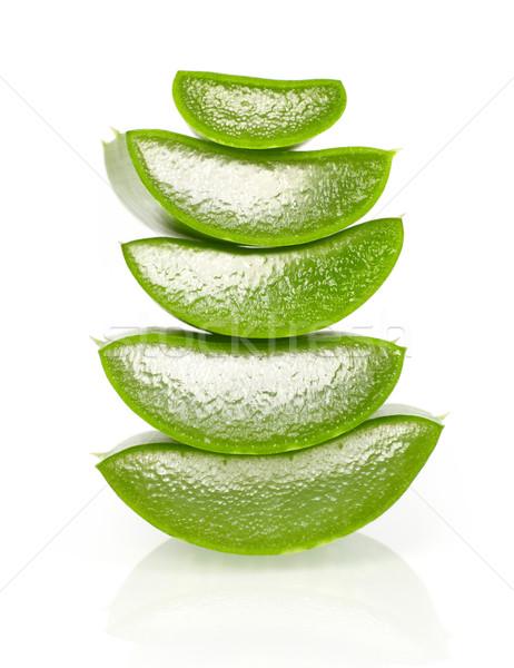 Aloe aislado blanco alimentos naturaleza Foto stock © goir