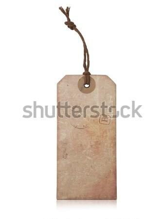 Vintage label geïsoleerd witte teken verkoop Stockfoto © goir