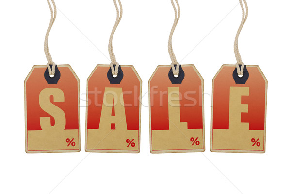 Venda preço isolado branco assinar Foto stock © goir