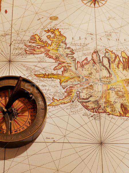 古代 地図 コンパス 古い セーリング 写真 ストックフォト © goir