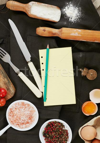 Ricetta cottura ingredienti accessori copia spazio alimentare Foto d'archivio © goir