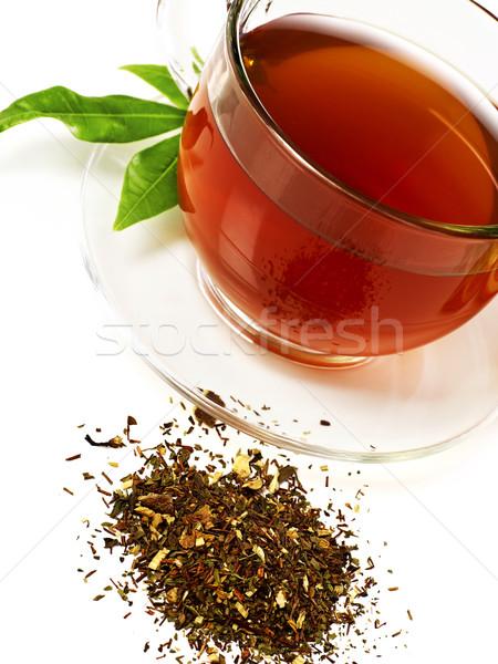Сток-фото: чай · изолированный · белый · лист