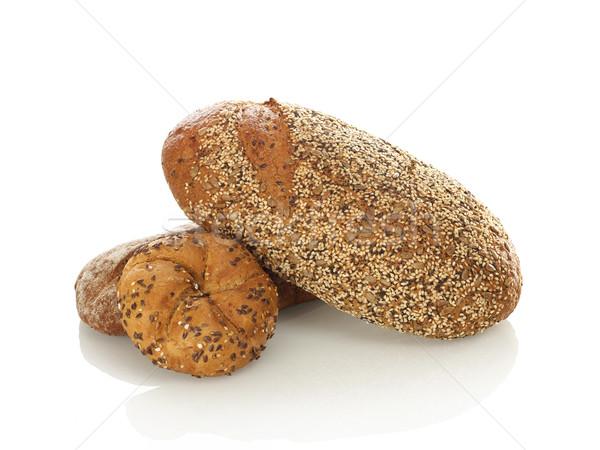 Pão branco comida fundo branco marrom Foto stock © goir