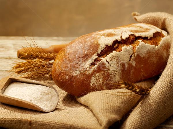 Fresh bread close-up Stock photo © goir