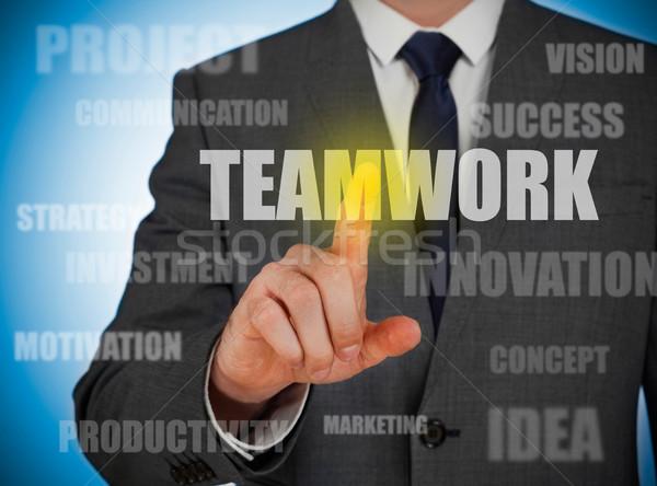 チームワーク ビジネス ビジネスマン サービス データ 計画 ストックフォト © goir