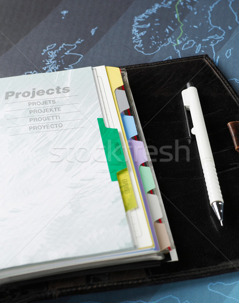 Personal organiser and pen Stock photo © goir