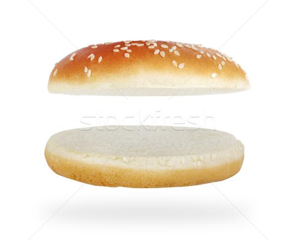 ハンバーガー 孤立した 白 シード ファストフード ストックフォト © goir