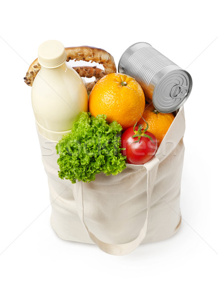 Reusable eco friendly grocery bag Stock photo © goir