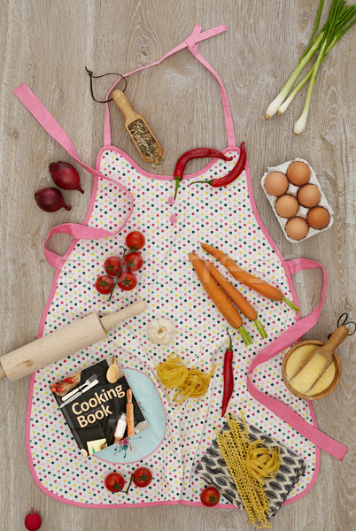 キッチン エプロン 材料 料理 図書 食品 ストックフォト © goir