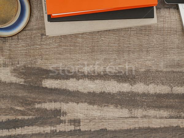 Dolgozik asztal közvetlenül fölött kilátás asztal Stock fotó © goir