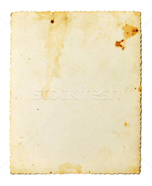 Taché vieille photo blanche résumé cadre art Photo stock © goir