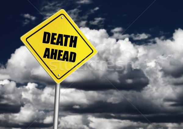 śmierci przed podpisania mętny niebo Chmura Zdjęcia stock © goir