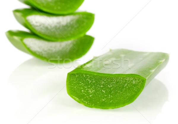 алоэ изолированный белый продовольствие лист Сток-фото © goir