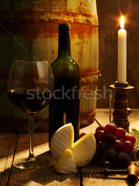 Red wine and cheese Stock photo © goir