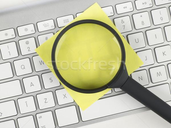 虫眼鏡 接着剤 注記 キーボード コンピュータ 技術 ストックフォト © goir