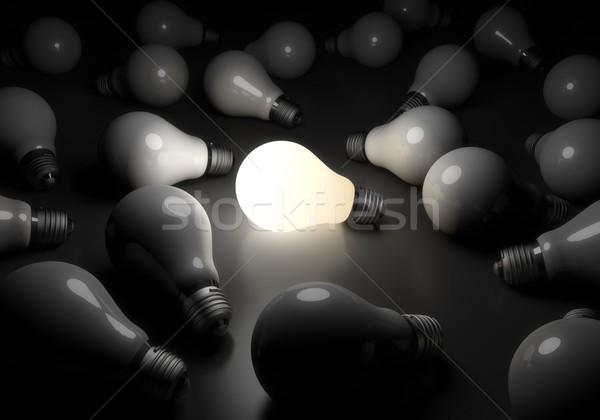 1 電球 異なる 抽象的な ストックフォト © goir
