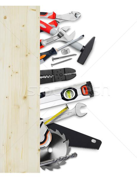 Ferramentas madeira conselho trabalhar Foto stock © goir