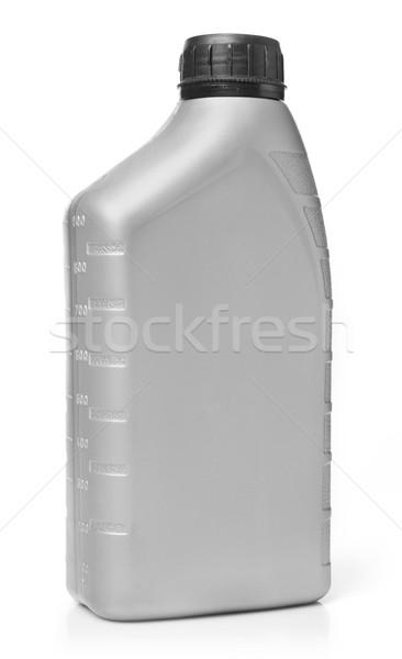 Stockfoto: Olie · fles · geïsoleerd · witte · container · benzine