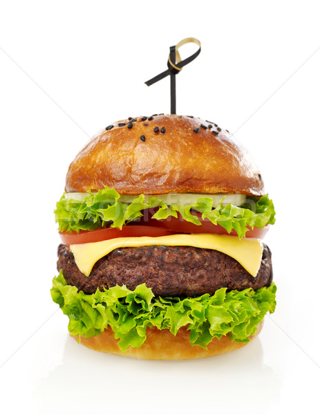 Cheeseburger isolato bianco pomodoro burger pasto Foto d'archivio © goir