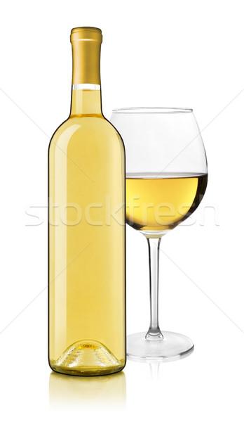бутылку вина стекла белый вино пить Сток-фото © goir