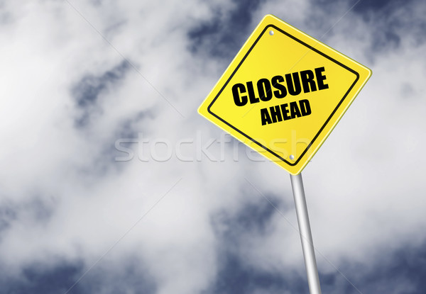 Stock fotó: Előre · felirat · égbolt · autópálya · felhő · citromsárga