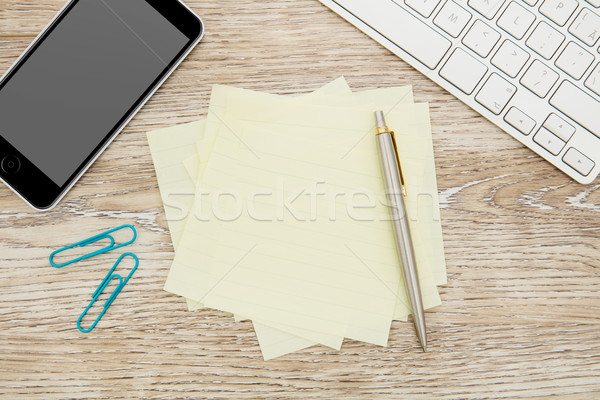 ストックフォト: 接着剤 · 注記 · オフィス · 表 · にログイン · 書く