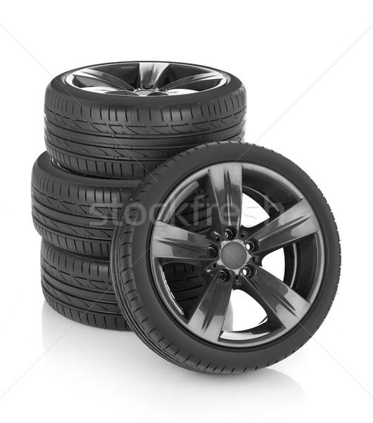 Auto ruote isolato bianco sport metal Foto d'archivio © goir