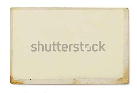 Oude foto witte abstract frame kunst achtergronden Stockfoto © goir