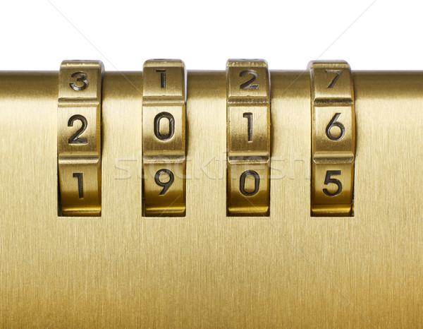 2016 numeri lucchetto metal sicurezza acciaio Foto d'archivio © goir