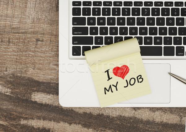 любви работу сообщение клей сведению Сток-фото © goir