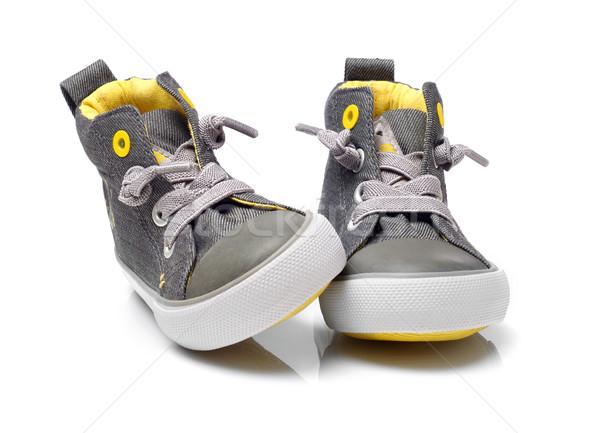 Kid chaussures isolé blanche mode enfant Photo stock © goir