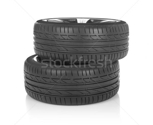 Zomer wielen auto geïsoleerd witte sport Stockfoto © goir