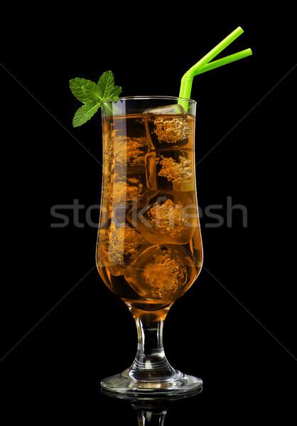 Ice tea with mint Stock photo © goir