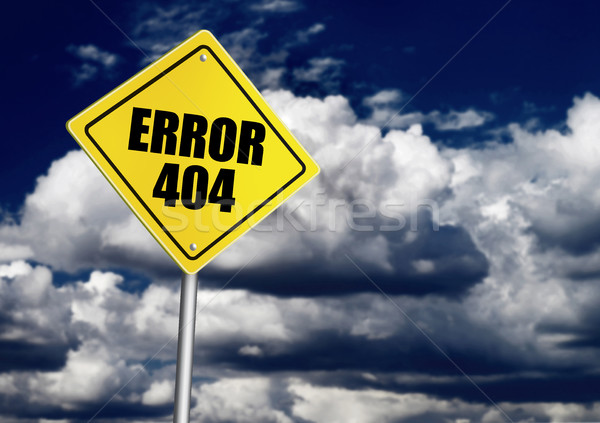 Error 404 sign Stock photo © goir