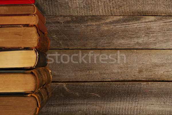 Antyczne książek tabeli widok z góry kopia przestrzeń książki Zdjęcia stock © goir