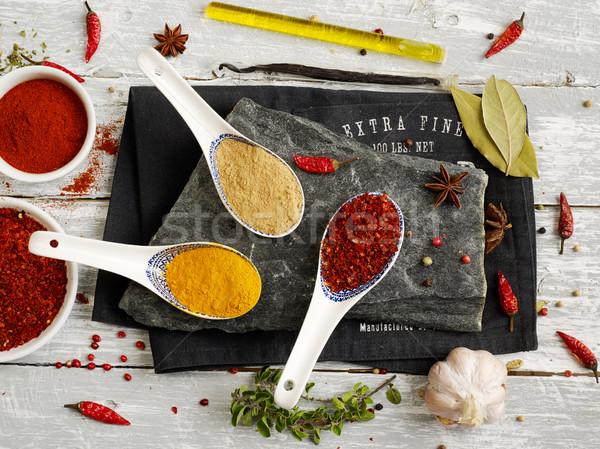 специи изменение ложку семени фотографии соль Сток-фото © goir