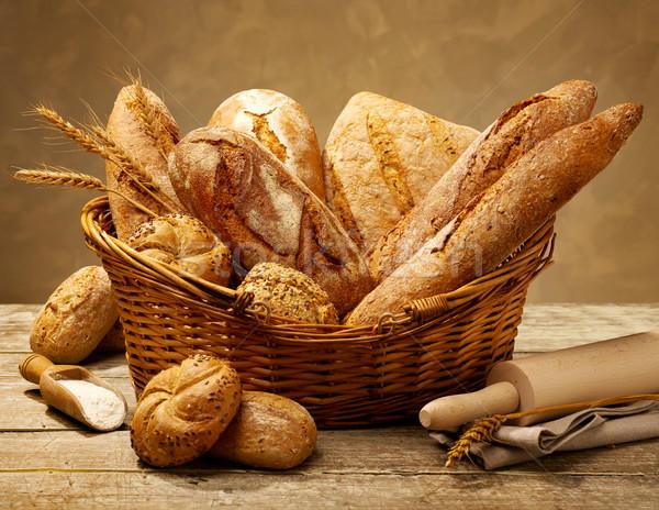 различный хлеб корзины природы среде Сток-фото © goir