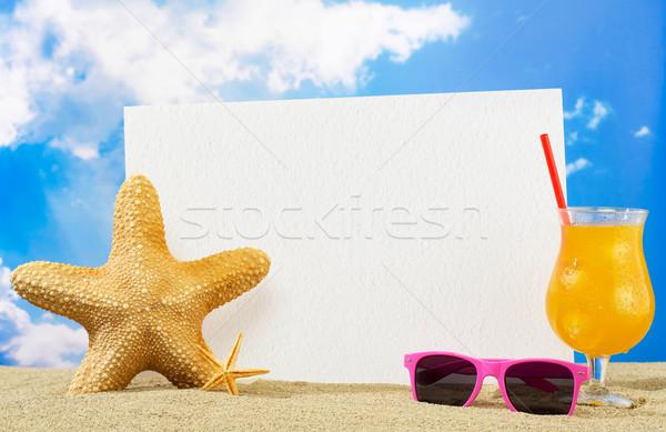 отпуск баннер сообщение совета копия пространства пляж Сток-фото © goir