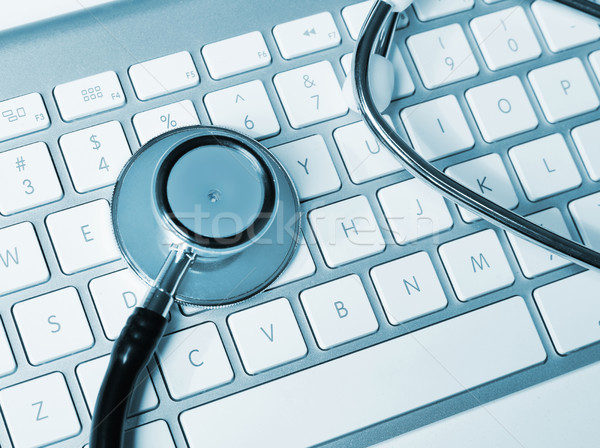 聴診器 キーボード コンピュータ インターネット 薬 ノートブック ストックフォト © goir