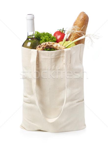 Reusable eco friendly grocery bag Stock photo © goir