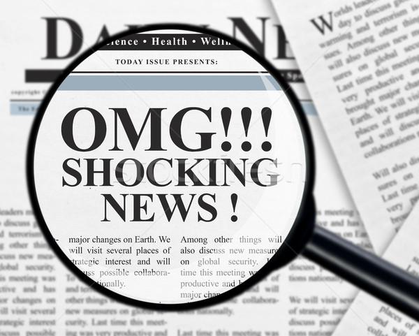Shocking news headline Stock photo © goir