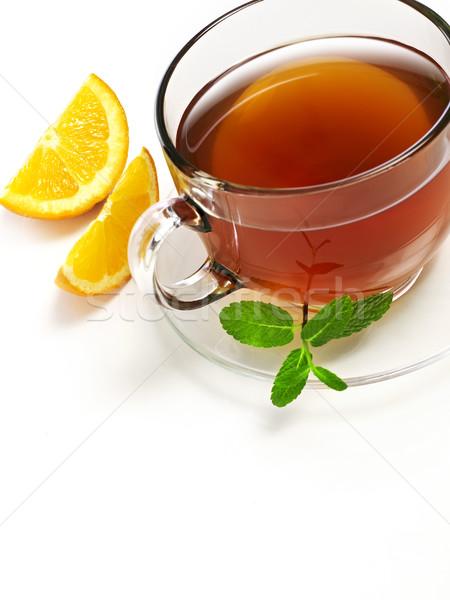 Сток-фото: чай · оранжевый · Кубок · изолированный · белый · жидкость