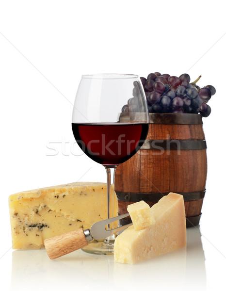 Wine glass and cheese Stock photo © goir