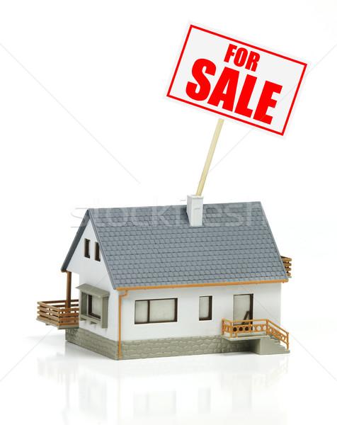 家 販売 モデル にログイン 孤立した 白地 ストックフォト © goir