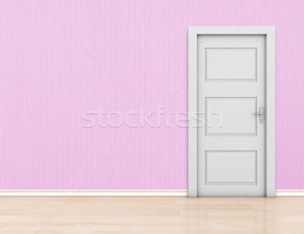 Photo stock: Mur · porte · fermé · chambre · espace · propre
