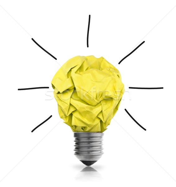 бумаги мяча лампочка белый толпа мышления Сток-фото © goir