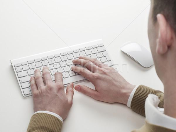 入力 コンピュータのキーボード 男 ビジネス コンピュータ マネージャ ストックフォト © goir