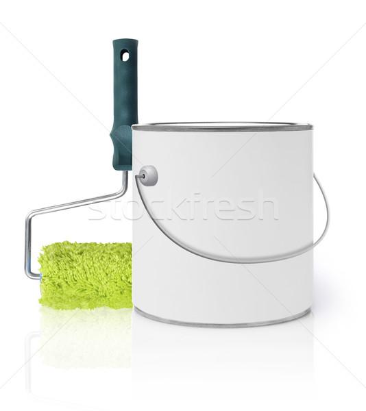 Festék festékes flakon izolált fehér konténer konzerv Stock fotó © goir
